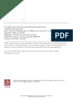 Modèle formel des processus dichotomiques platoniciens . Parrochia Daniel