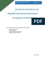 Programa de gobierno de Unidad Cívica Solidaridad (UCS)