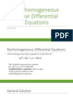 Non Homogeneous Linear Equation Calculas Presentation