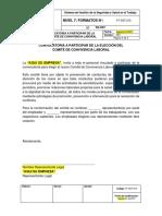 FT-SST-015 Formato Convocatoria a Participar de La Elección de Comité de Convivencia Laboral