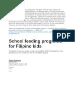 feeding program for statrter