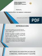 PRACTICA #04 Identificacion de Carbono e Hidrogeno