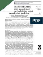 Quantitative Research in OM