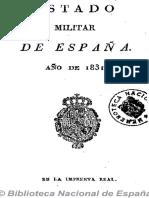 Estado Militar de España (Ed. en 16º). 1831