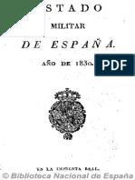 Estado Militar de España (Ed. en 16º). 1830
