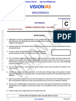 Vision IAS Prelims 2020 Test 2 Questions