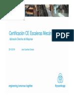 Certificación CE Escaleras Mecánicas