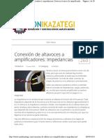 Altavoces Como Connectar Impedancia y Watios