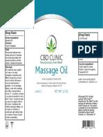 Cbd Clinic Massage Oil 12oz 11.7.18