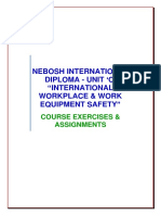 "Nebosh International Diploma - Unit 'c' ""International Workplace & Work Equipment Safety"""