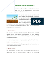 3.Factors Affecting Plant Growth