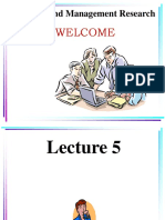 Lecture 5 Research Methodology
