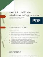 Ejercicio Del Poder Mediante La Organización