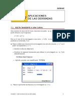 aplicaciones de las derivadas