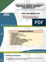 Presentación PPT - Términos de Referencia Para La Elaboración de Fichas Técnicas y Estudios de Preinversión e Inversiones No PIP