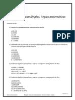 Múltiplos, Submúltiplos y Reglas Matemáticas - Ejercicios