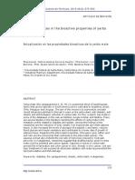 Recent advances in the bioactive properties of yerba mate