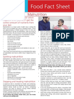 Malnutrition Fact Sheet