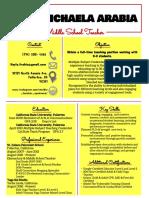 arabia resume