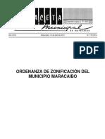 Ordenanza de Zonificacion Del Municipio Maracaibo