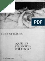 Que Es La Filosofia Politica - Leo Strauss