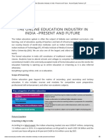 The Online Education Industry in India –Present and Future - Aurum Equity Partners LLP