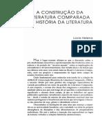 A construção Da Literatura Comparada e História Da Literatura
