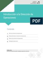 Lectura Fundamental 1 Dirección Operaciones