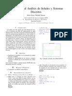 Introducción al Análisis de Señales y Sistemas Discretos