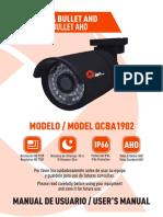 Camara Bullet AHD Manual de Usuario