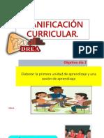 Planificación Curricular - Día 2