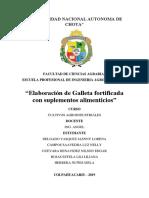 INFORME GALLETAS FORTIFICADAS