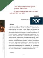 La evolución del pensamiento del Ejército Argentino entre 1930 y 1968 Hernán Cornut.pdf