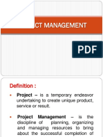 Project Management A