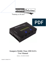 Kanguru Mobile Clone 1HD Duplicator User Manual