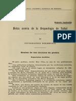 Capdeville 1921 - Notas de La Arqueología de Taltal II Civilizacion Dolmenica BANH Vol III n5