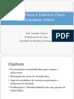 Atividade Física e Exercício Físico Na Obesidade Infantil