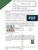 Avaliacão Trimestral Matemática Agosto 2015