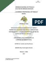 """""""Estilos Educativos Utilizados x Adventistas"""