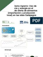 Metabolismo agrario de Galapagos