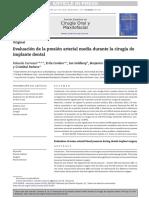 Evaluacion de la presion arterial media durante la cirugia de implante dental.pdf