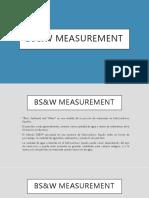 BS&W Measurement