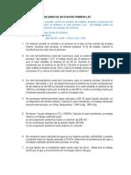 Ejercicios aplicación primera ley termodinámica