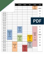 Class Schedule - 1st Sem . 2019-2020