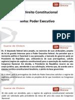 PPTRQ - Direito Constitucional- Aula 05- Poder Executivo- Prof. Erival
