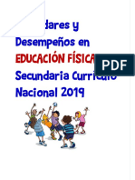 SECUNDARIA-Estándares y Desempeños en EDUCACIÓN FÍSICA 1°