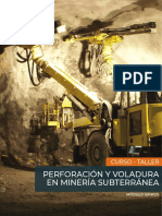 Perforación y Voladura en Minería Subterránea