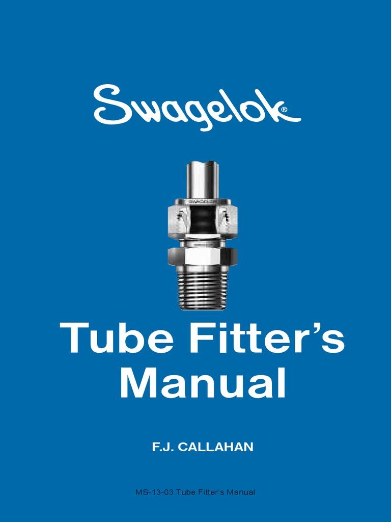 """1//2/"""" to 1//2/"""" Double Ferrule Pre-Swaged Tube Union Swagelok"""