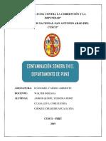 Contaminación Sonora en Puno - Economia y Medio Ambiente