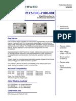 DPG-21XX-00X Woodware Para Planta Electrica Kohler